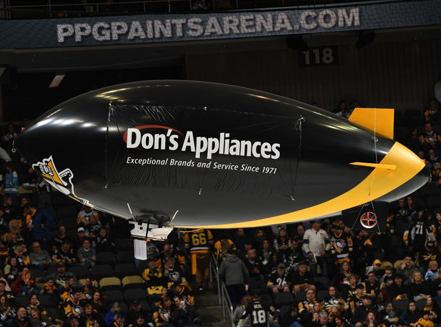 PPG Paints Arena Pittsburgh Penguins Airship Sponsorship