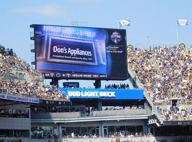 Pitt Athletics Heinz Field Jumbotron Ad
