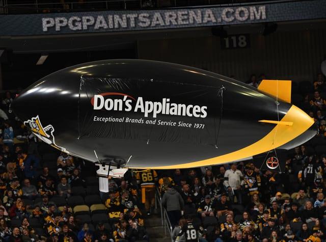 Don's Appliances Blimp in Pittsburgh Penguins' Arena